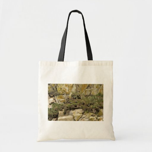 Tufted Puffin burrows, Castle Rock Budget Tote Bag