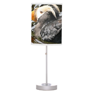 Tufted Puffin in Water Desk Lamp