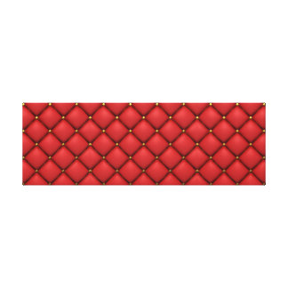 Tufted Red Leather. Canvas Print