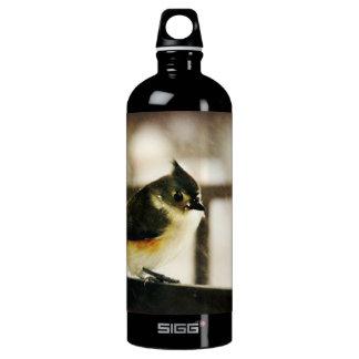 Tufted Titmouse Aluminum Water Bottle