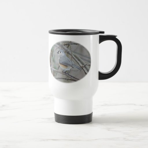 Tufted Titmouse (Baeolophus bicolor) Items 15 Oz Stainless Steel Travel Mug