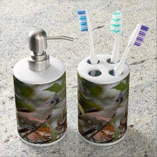 Tufted Titmouse Bird photo Soap Dispensers