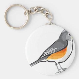 Tufted Titmouse Bird vector illustration clip-art Keychain