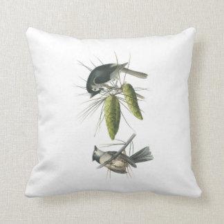 Tufted Titmouse by Audubon Throw Pillow