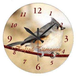 Tufted Titmouse Clock- customize Wall Clock