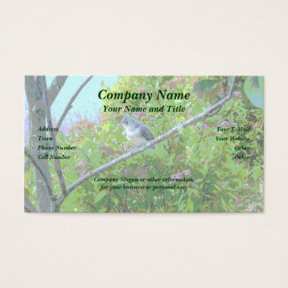 Tufted Titmouse Fledgling Baby Bird Business Card