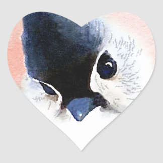 Tufted Titmouse Heart Sticker
