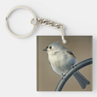 Tufted Titmouse Key Chain