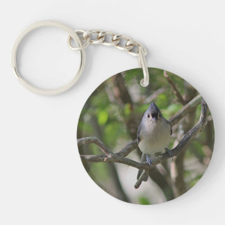 Tufted Titmouse Keychain
