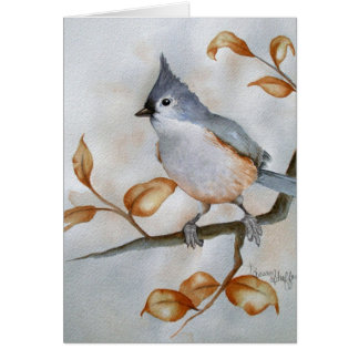 Tufted Titmouse Note Card
