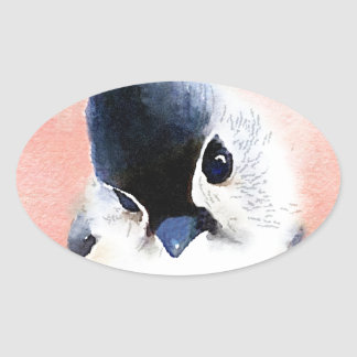 Tufted Titmouse Oval Sticker