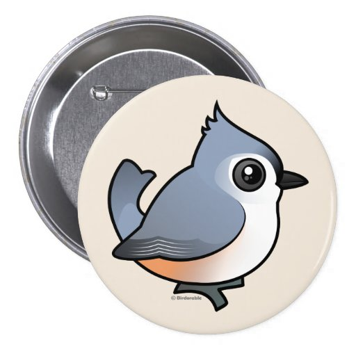 Tufted Titmouse Pinback Buttons