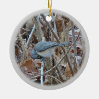 Tufted Titmouse Songbird Coordinating Items Ceramic Ornament