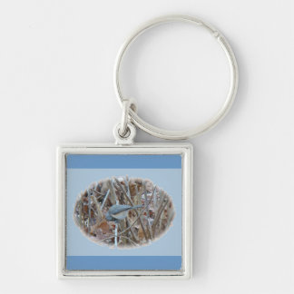 Tufted Titmouse Songbird Coordinating Items Keychain