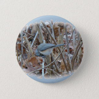 Tufted Titmouse Songbird Coordinating Items Pinback Button