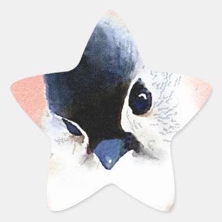 Tufted Titmouse Star Sticker