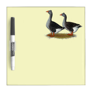 Tufted Toulouse Geese Dry Erase Board