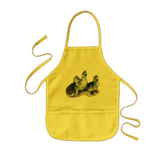 Tufted Toulouse Goslings Kids' Apron