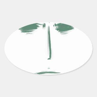 tufuface oval sticker