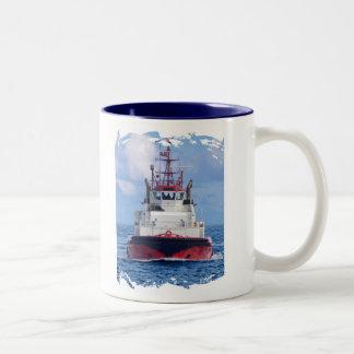 Tug Ahead Two-Tone Coffee Mug