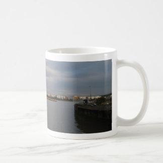 Tug And Barges On The Thames Coffee Mug