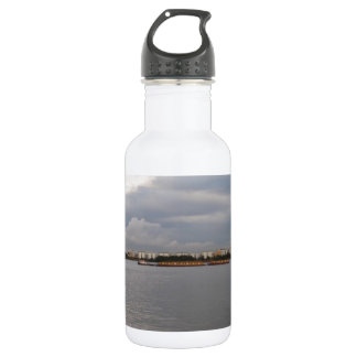 Tug And Barges On The Thames 18oz Water Bottle