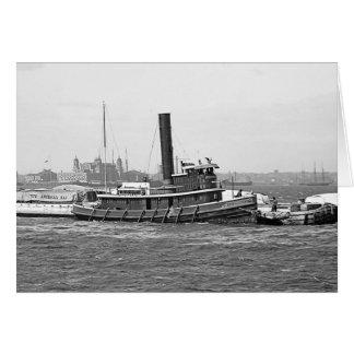 Tug and Ellis Island Card