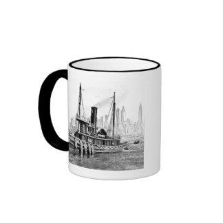 Tug and Skyline Ringer Mug