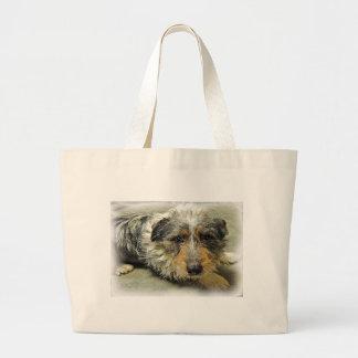 Tug at Heart Corgi Terrier Mix Dog Tote Bag
