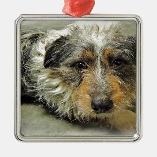 Tug at Heart Corgi Terrier Mix Dog Metal Ornament