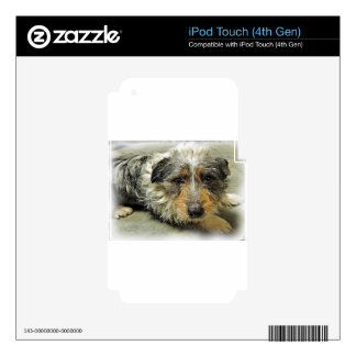 Tug at Heart Corgi Terrier Mix Dog Decals For iPod Touch 4G