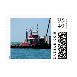 Tug at Work Postage Stamp