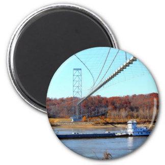 Tug boat 2 inch round magnet