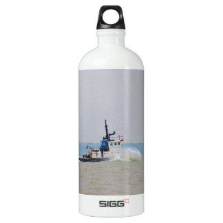 Tug Boat Battling Wind And Tide Aluminum Water Bottle