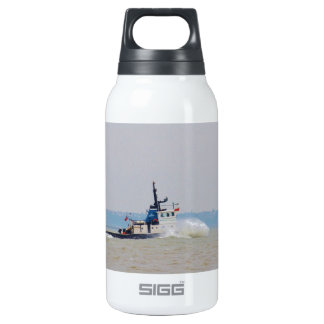 Tug Boat Battling Wind And Tide Insulated Water Bottle
