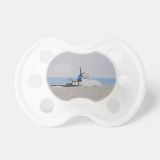 Tug Boat Battling Wind And Tide Baby Pacifiers