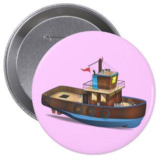 Tug Boat Pinback Button