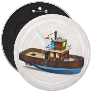 Tug Boat Pinback Buttons