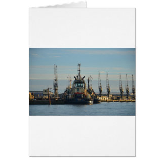 Tug Boat On The Medway Greeting Cards