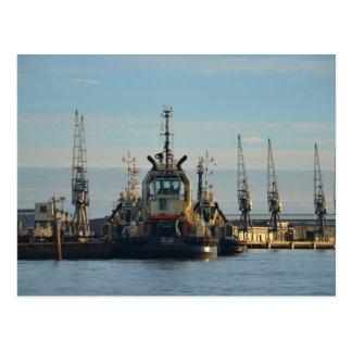 Tug Boat On The Medway Postcards