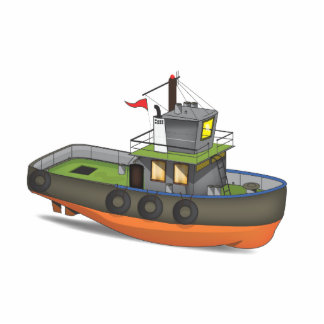 Tug Boat Photo Sculpture Magnet