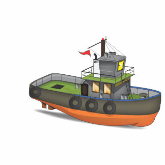 Tug Boat Standing Photo Sculpture