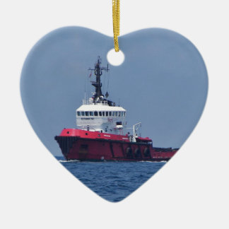 Tug Eurosund Double-Sided Heart Ceramic Christmas Ornament