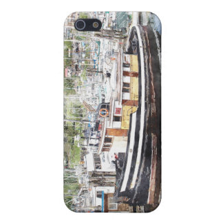Tug & Fishing Boats Watercolour Art iPhone Case