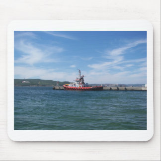 Tug In Harbor Mouse Pad