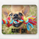 "Tug o War Chihuahua Mouse Pad<br><div class=""desc"">For now,  my Roxy is my main subject to photograph. She is the best Chihuahua ever. We were playing Tug of War,  I had one hand on the game and one hand on the camera! GAME ON!</div>"
