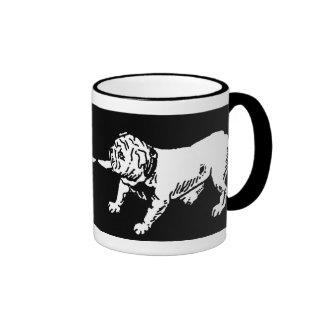 Tug 'O War English Bulldogs Ringer Coffee Mug