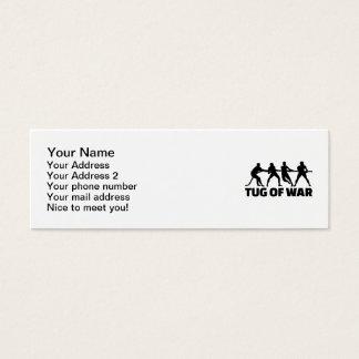Tug of war mini business card