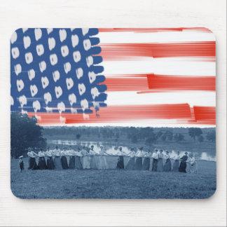Tug of War Tug O War Women 1890's American Flag Mouse Pad