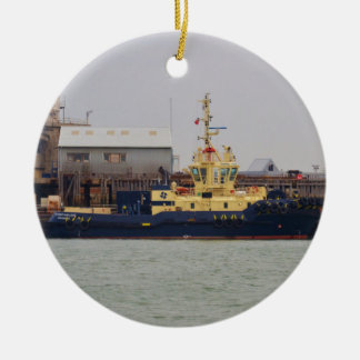 Tug Svitzer Mallaig Double-Sided Ceramic Round Christmas Ornament